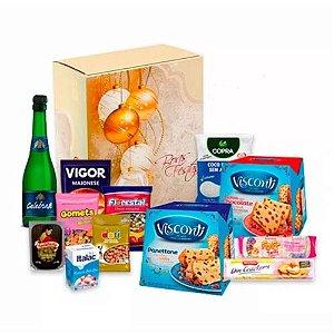 cesta natalina - chocottone, panetone e Espumante