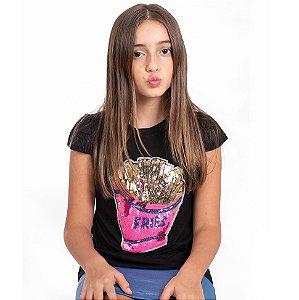 T-Shirt batata frita rosa