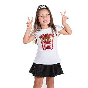 T-Shirt batata frita vermelha
