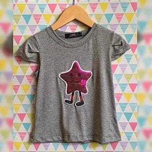 T-Shirt estrelinha rosa