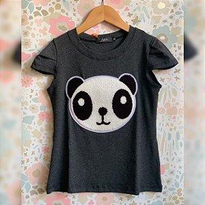 T-Shirt panda pelúcia