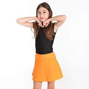 Shorts Saia gel brilho laranja