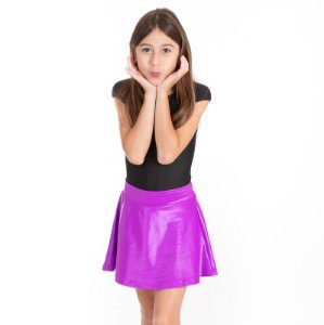 Shorts Saia cirrê roxo