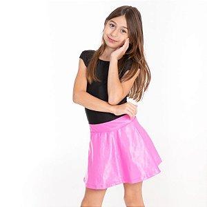 Shorts Saia cirrê rosa chiclete