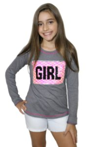 T-Shirt manga longa GIRL