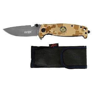 Canivete Manual com Bainha e Presilha 3,5