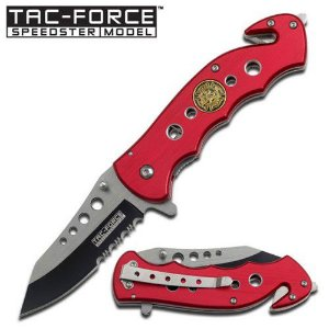 Canivete De Resgate Tac Force Fire Dept - TF498RF - MASTER USA