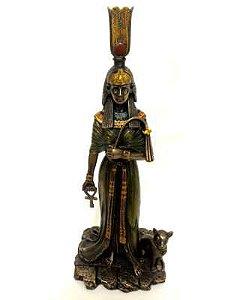 Rainha Egípcia Nefertari Com Deusa Gata Bastet