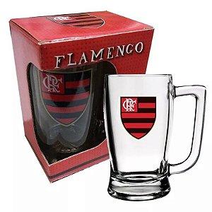 Caneca Chopp Vidro Flamengo 340ml