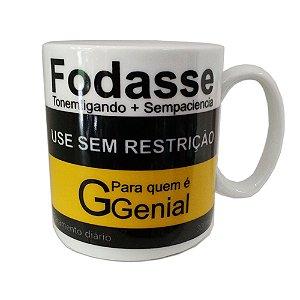Caneca Porcelana Fodasse 300ml