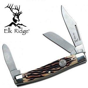 Canivete Classico Tres Laminas Elk Ridge Stockman