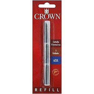 Cartucho p/ caneta tinteiro Crown azul - Ref. CA 32005A