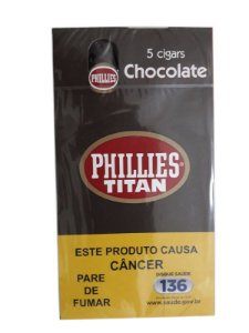 Charuto Phillies Titan Chocolate cx c/5