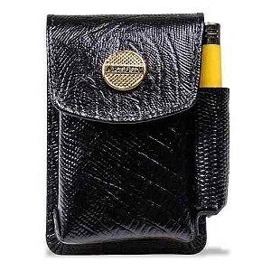 Cigarreira em Couro Artlux com Passante Preto Ref. 438