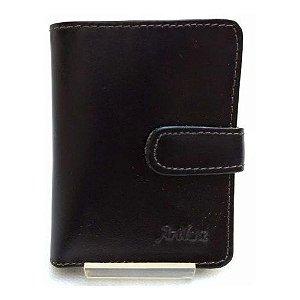 Carteira em Couro Artlux com Porta Cartão de Crédito e Notas Ref 026