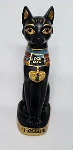Gato Egício Bastet em Pé- Deusa da Fertilidade