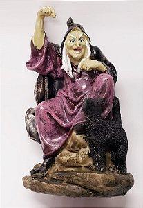 Bruxa com Gato Preto