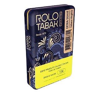 Cigarro de Palha Rolo Tabak c/ filtro Virginia Extra Suave na lata