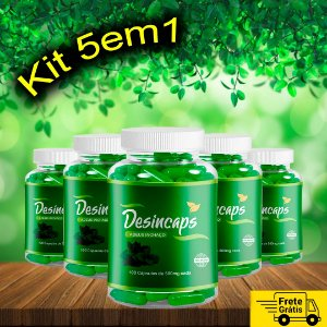 KIT 5in1 - Desincaps 5 frascos para 5 meses – FRETE GRÁTIS
