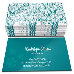 Cartão de visita 4 x 0 cores (milheiro)