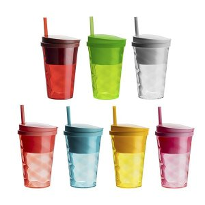 Copo Snack cup 400 ml + 285 ml de reservatório (mínimo 50 pçs)