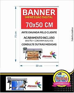 Banner com impressão digital em lona 50x70