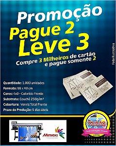 CARTÕES DE VISITA COUCHÊ 250G VERNIZ UV TOTAL F - 4X0 - Pague 2 e Leve 3
