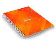 CADERNO 150X210MM 100 FOLHAS - 4X0