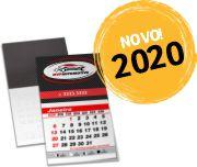 ÍMÃS DE GELADEIRA CORTE RETO COM CALENDÁRIO 2020 COUCHÊ 250G VERNIZ UV TOTAL FR - 4X0