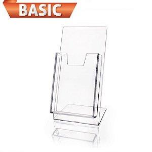 Porta Folder 21x15 em Acrílico Poliestireno - Linha Basic