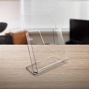 Porta Folder de Mesa em Acrílico A5 (15x21cm)