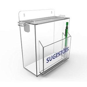 Caixa de Sugestão em Acrílico Cristal