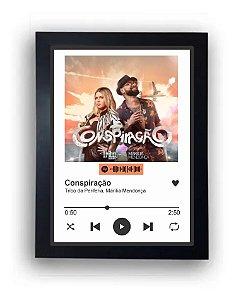 Quadro Interativo A3 Spotify - Presente, Namorados, Casamento