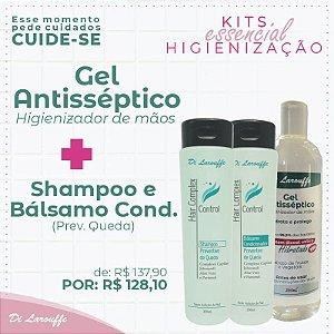 Shampoo+condicionador preventivo quedas+Gel antisseptico 360