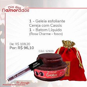 Geleia Esfoliante Cereja com Cassis + Baton liq. Rosa Charme