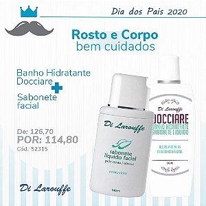Banho Hidratante Docciare e Sabonete líquido Facial