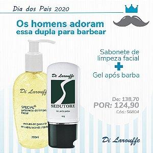 Sabonete de Limpeza Facial Special+ e Gel pós barba SEDUTORE