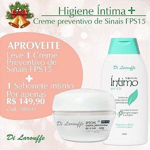 Sabonete Intimo Di Larouffe e Creme preventivo de Sinais FPS15 Special+