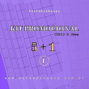 KIT CURIO - 5 BASES A4 0.30 TRANSPARENTE COM COLA + 1 BASE A4 0.30 BRANCA COM COLA