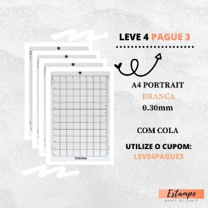 LEVE 4 PAGUE 3 A4 PORTRAIT BRANCA COM COLA 0.30mm