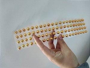 Cartela Meia Perola Dourada 80 un