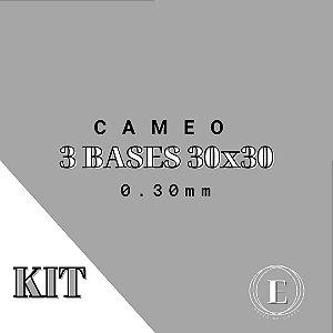 KIT CAMEO - 3 30x30 (0.30mm com cola) TRANSPARENTE