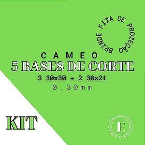 KIT CAMEO - 3 30x30; 2 30x21 + 1 fita BRINDE (0.30 com cola)TRANSPARENTE