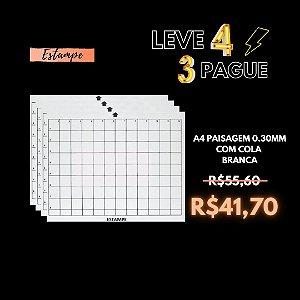 LEVE4 PAGUE3 CAMEO A4 PAISAGEM 0.30MM COM COLA BRANCA