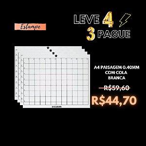 LEVE4 PAGUE3 CAMEO A4 PAISAGEM 0.40MM COM COLA BRANCA
