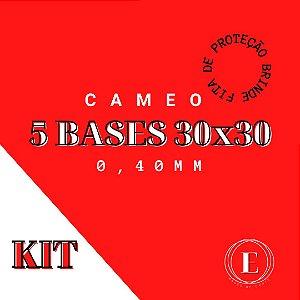 KIT 5 BASES CAMEO 30x30 0,40 COM COLA + FITA BRINDE