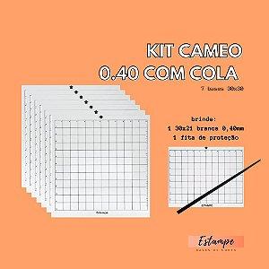 KIT CAMEO - 7 BASES 30x30 0,40 com cola BRINDE: 1 30x21 BRANCA + 1 FITA