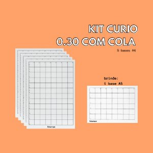 KIT CURIO - 5 BASES A4 0,30mm + 1 BASE A5 BRINDE
