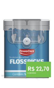 Fio Dental Floss Picks Adulto C/50 und (6 estojos)