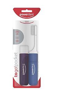 Escova Dental Viagem Powertrip com 2 UNIDADES